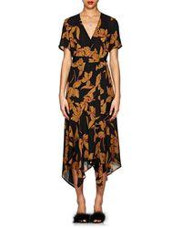 A.L.C. - Cora Floral Silk Wrap Dress - Lyst