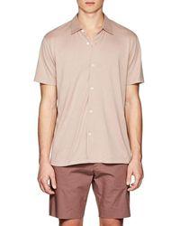 Theory - Stockinette-stitched Silk-cotton Shirt - Lyst
