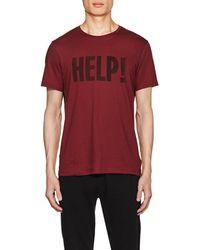 John Varvatos - help! Cotton-blend T-shirt - Lyst