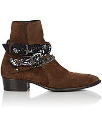 Amiri - Double Buckle Western Boots - Lyst