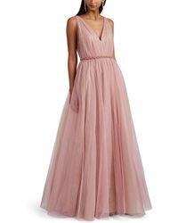 J. Mendel - Embellished Tulle Gown - Lyst