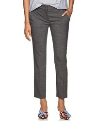 Prada - Wool Flat-front Trousers - Lyst