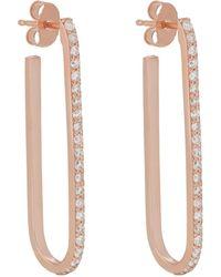 Carbon & Hyde - Pin Hoop Earrings - Lyst