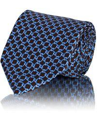 Barneys New York - Chain-link-pattern Silk Satin Necktie - Lyst