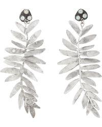 Julie Wolfe - Fern-shaped Drop Earrings - Lyst