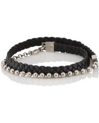 Title Of Work - Leather Cord & Ball Chain Double-wrap Bracelet - Lyst