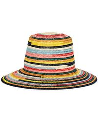 Eugenia Kim - Stevie Multicolored Straw Bucket Hat - Lyst