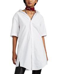 Alexander Wang - Chain-detailed Cotton Oxford Cloth Shirtdress - Lyst