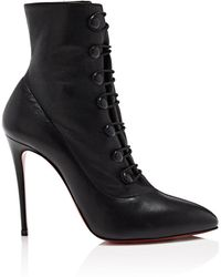 Christian Louboutin - French Tutu 100 Black Booties - Lyst