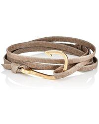 Miansai - Hook On Leather Wrap Bracelet - Lyst