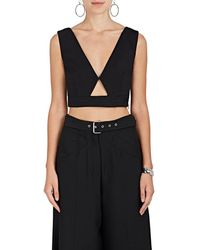 Derek Lam - Cutout Cotton-blend Crop Top - Lyst