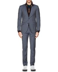 Lanvin - Attitude Micro-checked Wool Two-button Suit - Lyst