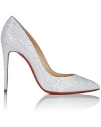 Christian Louboutin - Pigalle Follies Glitter Pumps - Lyst