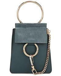 Chloé - Faye Mini Leather & Suede Bag - Lyst