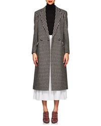 Derek Lam - Houndstooth Tweedy Wool-blend Long Coat - Lyst