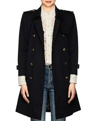 Givenchy - Cotton Belted Double-breasted Trench Coat - Lyst