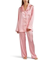Sleeper - Silk Satin Pyjama Set - Lyst