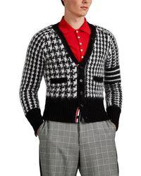 Thom Browne - Houndstooth Wool-blend V-neck Cardigan - Lyst