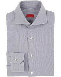 Isaia - Birdseye Cotton Dress Shirt - Lyst