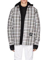 536a9b79daa7 Lyst - Off-White c o Virgil Abloh Spray-paint Plaid Flannel Shirt in ...