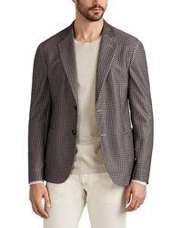 Giorgio Armani - Geometric Crepe Two-button Sportcoat - Lyst
