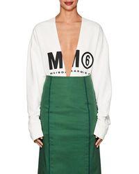 MM6 by Maison Martin Margiela - Logo Cotton Oversized Sweatshirt - Lyst