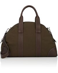 Fontana Milano 1915 - Small Leather-trimmed Weekender Bag - Lyst