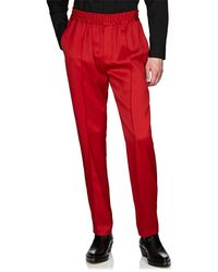 Givenchy - Logo-embroidered Satin Drawstring Trousers - Lyst