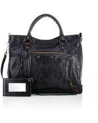 Balenciaga - Arena Leather Classic Velo Bag - Lyst
