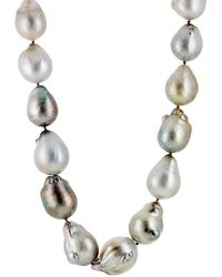 Linda Lee Johnson - Baroque Pearl Necklace - Lyst