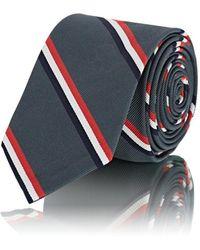 b81b59a155c5 Lyst - Thom Browne Classic Neck Tie In Dark Grey Herringbone in Gray ...