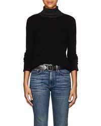 ATM - Metallic-knit Cashmere Turtleneck Sweater - Lyst