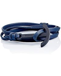 Miansai - modern Anchor On Leather Wrap Bracelet - Lyst