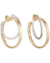 Roberto Marroni - Mixed Diamond Hoop Earrings - Lyst