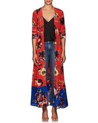 We Are Leone - Floral Silk Maxi Cardigan Size M/l - Lyst