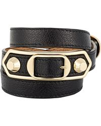 Balenciaga - Metallic Edge Double Tour Wrap Bracelet - Lyst