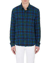 Vince - Plaid Cotton - Lyst