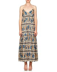 Zimmermann - Castile Floral Cotton Tiered Maxi Dress - Lyst