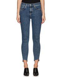 Rag & Bone - High Rise Ankle Skinny Jeans - Lyst