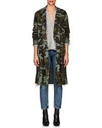 Nili Lotan - Farrow Camouflage Cotton Trench Coat - Lyst