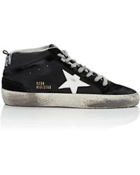 63af217bbb3a Golden Goose Deluxe Brand - Mid Star Leather   Suede Sneakers - Lyst