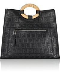 Fendi - Runaway Leather Tote Bag - Lyst