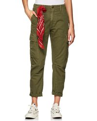 RE/DONE - Cotton Twill Crop Cargo Trousers - Lyst