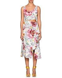 Prabal Gurung - Lawrence Floral Silk Cutaway Dress - Lyst
