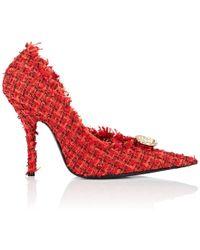 Balenciaga - Embellished Tweed Pumps - Lyst