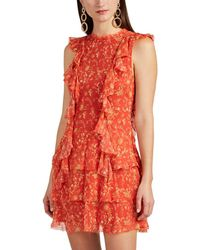 Sir. The Label - Posey Floral Silk Minidress Size 3 - Lyst