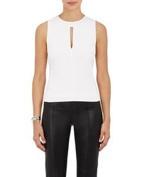 Narciso Rodriguez - Crepe Sleeveless Top - Lyst