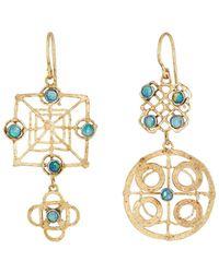 Judy Geib - Wheel Double-drop Earrings - Lyst