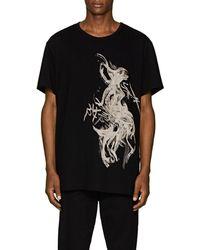 Yohji Yamamoto - Printed Cotton Jersey T-shirt - Lyst