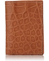 Barneys New York - Alligator Folding Card Case - Lyst